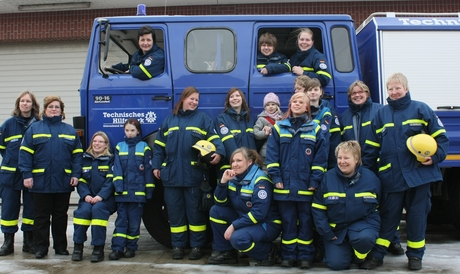 The women from THW-local branch Bremen.