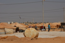 In the Jordan refugee camp, refugees support the extension work in the camp.