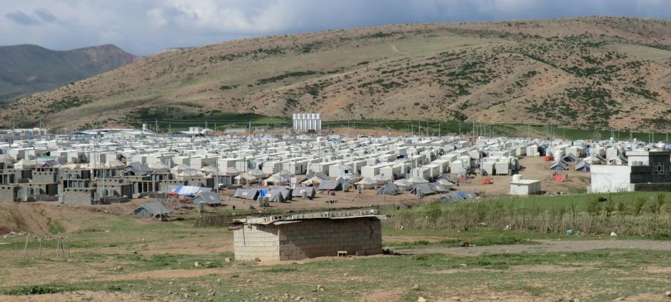 The refugee camp of Basirma in the region of Kurdistan-Iraq. There, among other things, THW worked on drainage and sewers.