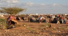 The refugee camps on the border to Somalia are overcrowded. (show image)