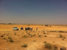 THW-staff and members of UNHCR explored the territory near the border to Syria.