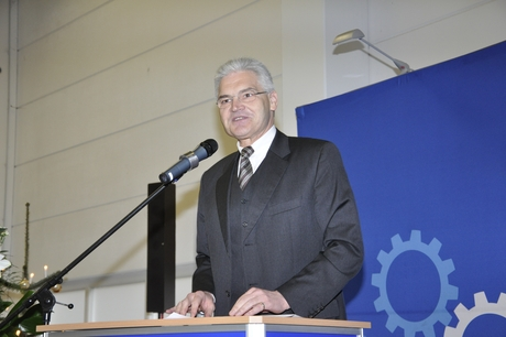 Mr Norbert Seitz during his speech.