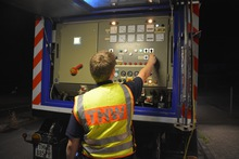 Neun Fachgruppen Elektroversorgung rückten mit ihren Netzersatzanlagen an.