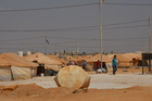 In the Jordan refugee camp, refugees support the extension work in the camp. (show image)