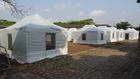 Camp 50 in the Ebola free country of Benin is set up.
