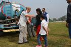 Drinking water distribution in Tudikhel in the southern area of Ratna park in Kathmandu.