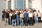 THW Vice-President, Gerd Friedsam (first row, second from right) travelled to Jordan for the start of the training course.  (show image)