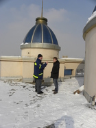 The earthquake resistance of the GIZ-offices was tested in Tadzhikistan.
