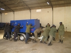 Emergency backup generators are also belonging to the equipment of the Senegalese Formed Police Unit. (show image)